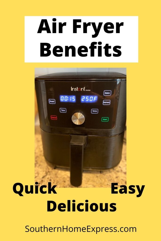 air fryer with some of the 10 air fryer benefits listed
