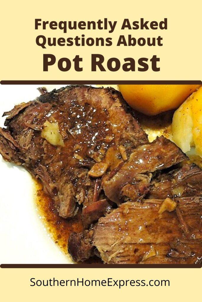 plate of juicy pot roast