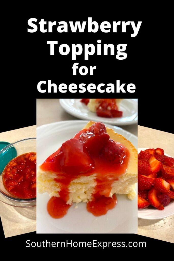 strawberries and strawberry cheese cake