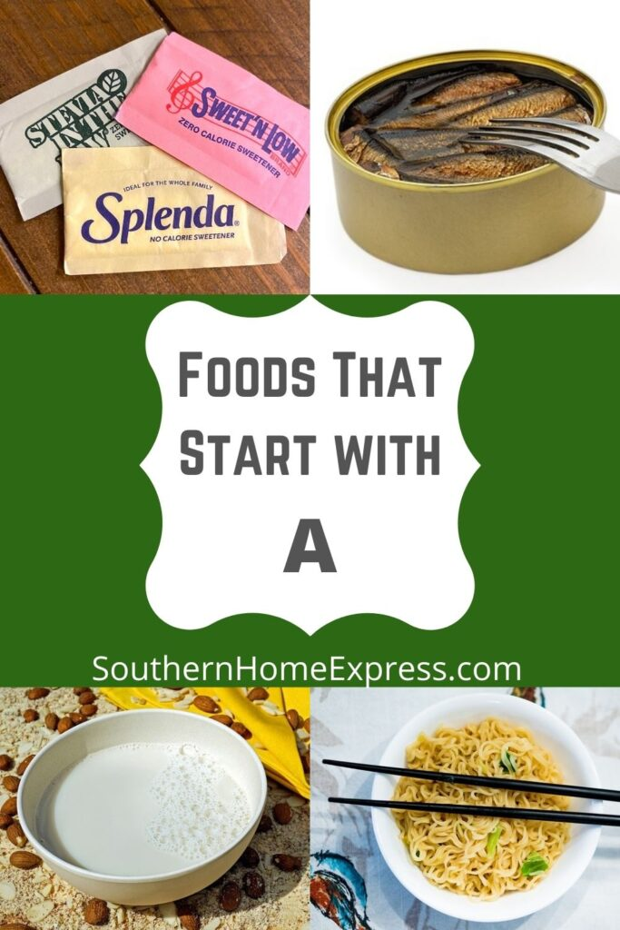artificial sweeteners, anchovies, asian noodles, and almond milk