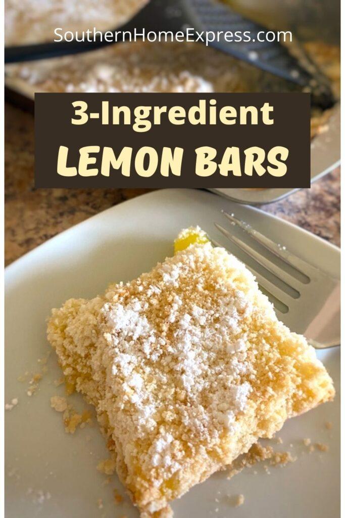 lemon bar on a plate