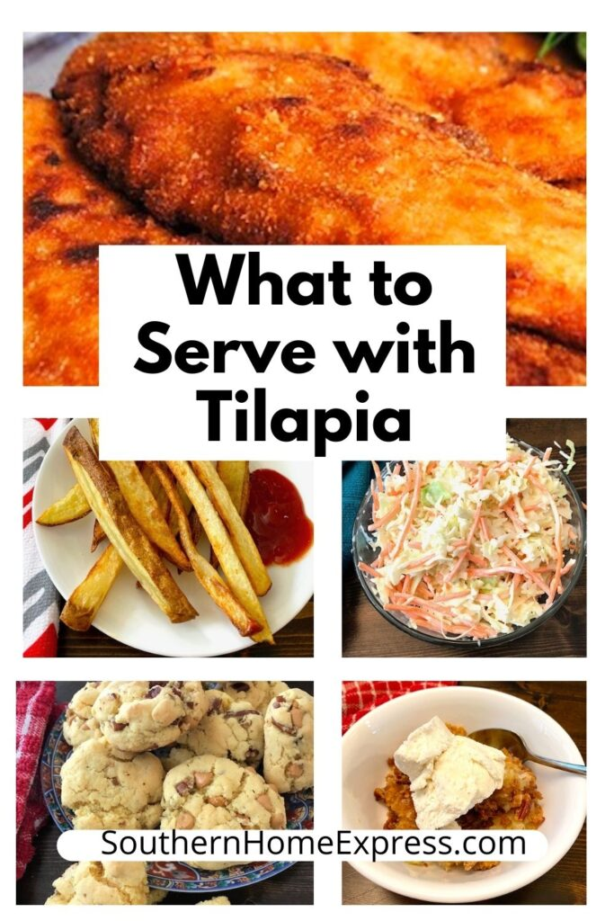 fried tilapia with a variety of dishes to serve with it.