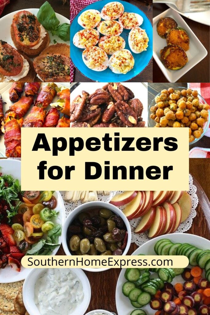variety of appetizers you can add to your dinner plate