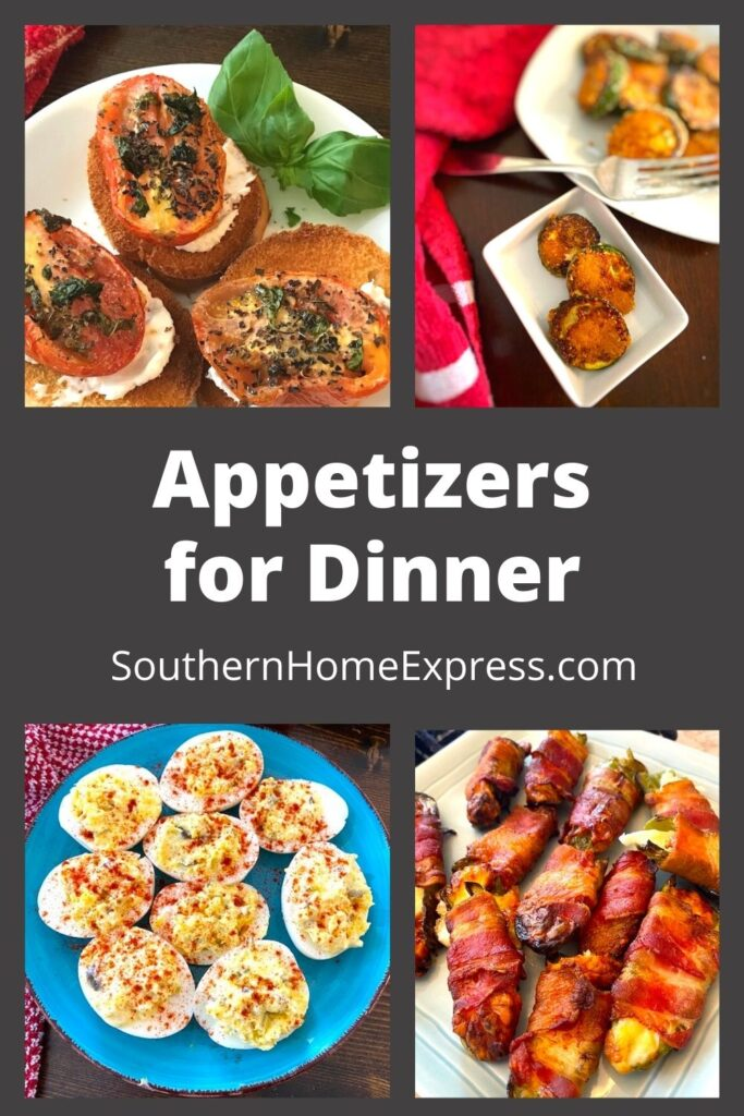 variety of appetizers you can have for dinner