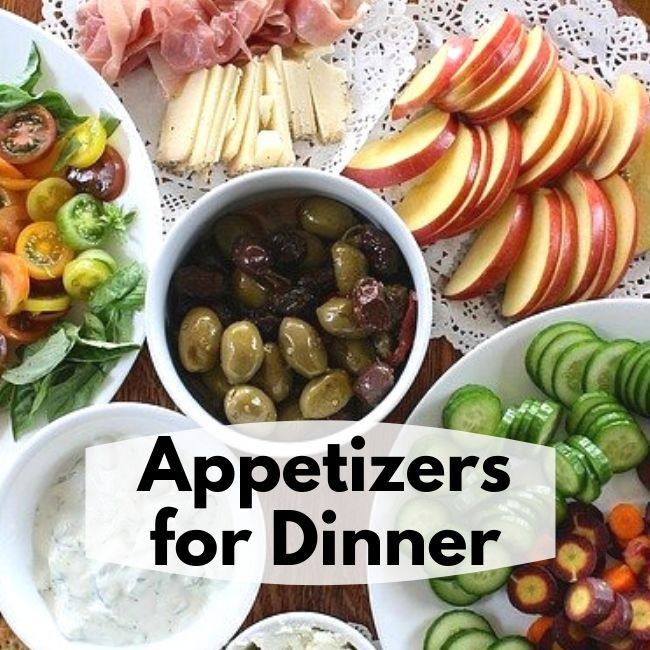 table filled with appetizers