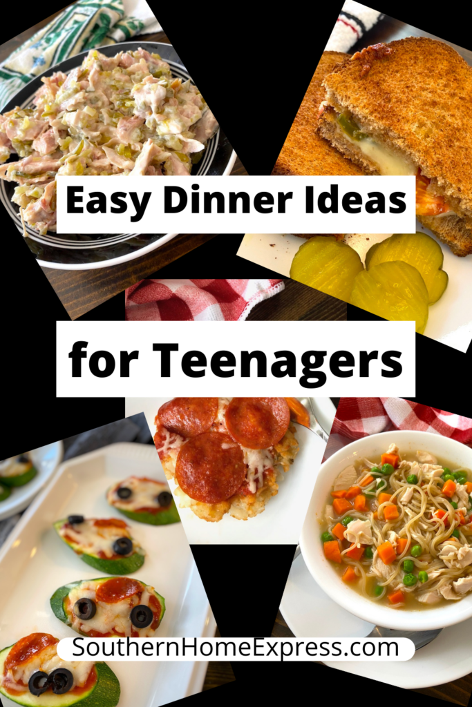 variety of easy dinner foods teenagers can make