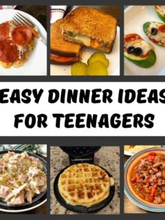 variety of foods teenagers can make