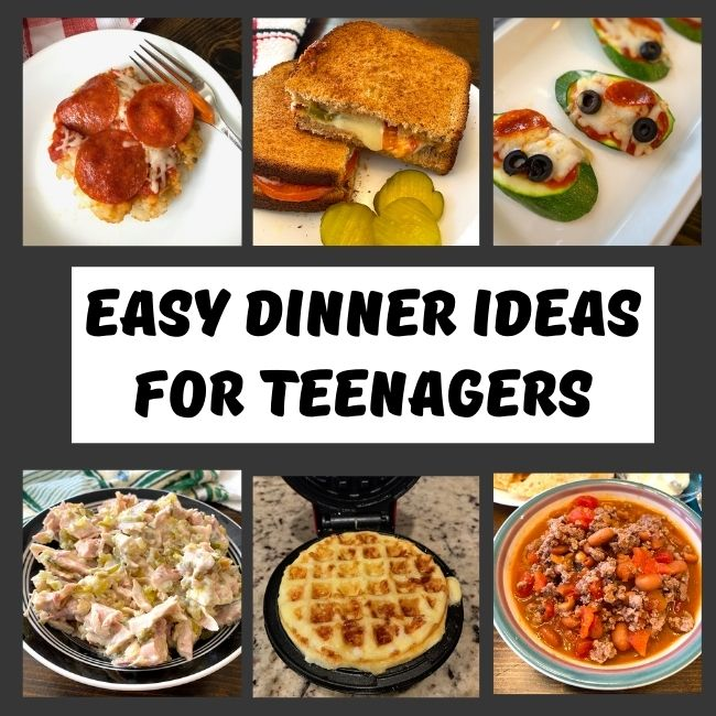 variety of easy foods teenagers can make for dinner